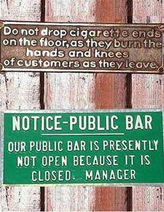 Public Bar Nonsense Board - Funny Pictures and Images