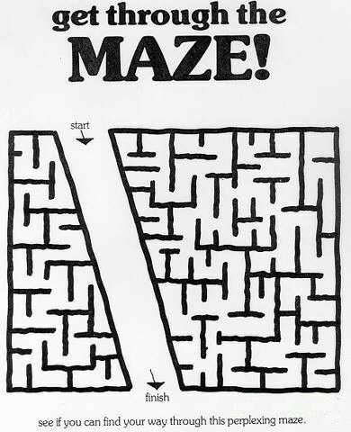 The Most Difficult Maze - Funny Pictures and Images