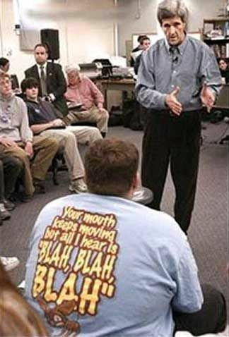 John Kerry and the t-shirt - Funny Pictures and Images