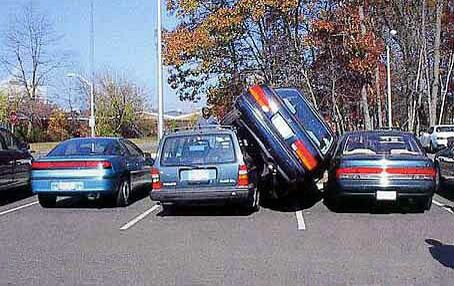 The Slim Car Parking - Funny Pictures and Images
