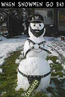 Bad Snowman - Funny Pictures and Images