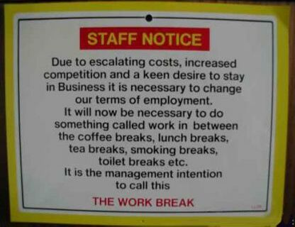 Funny Staff Notice - Funny Pictures and Images