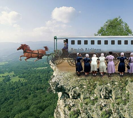 Amish Airlines - Funny Pictures and Images