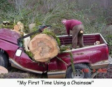 Use the chainsaw carefully - Funny Pictures and Images