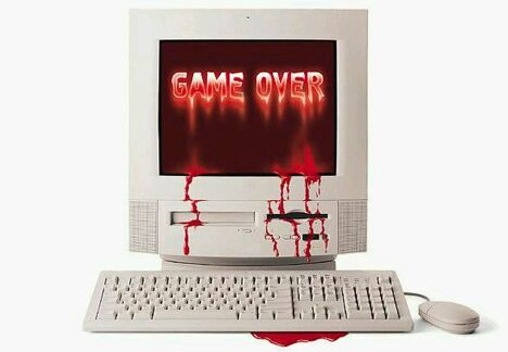 Bloody Game Over - Funny Pictures and Images