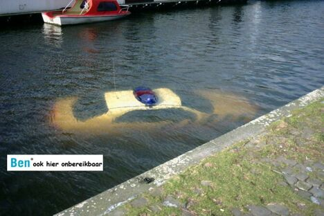 Sunken Police Car - Funny Pictures and Images