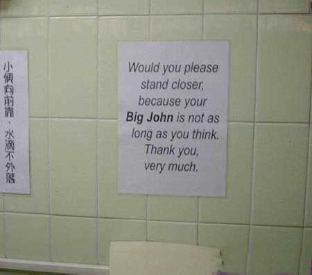Toilet Notice - Funny Pictures and Images