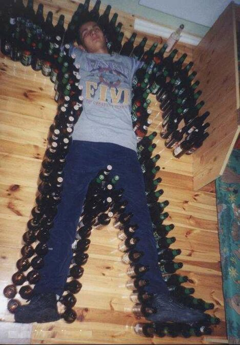 Bottled Up Man - Funny Pictures and Images