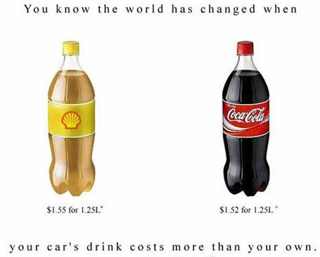 Gas vs. Coke - Funny Pictures and Images