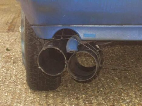 Homemade exhaust - Funny Pictures and Images