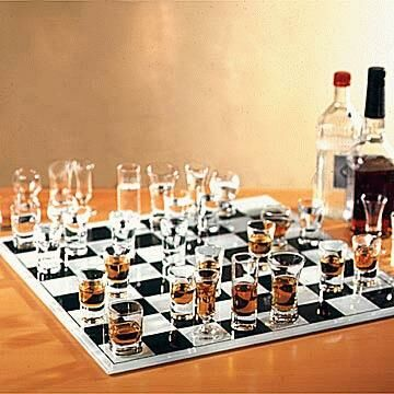 Drinking and chess - Funny Pictures and Images