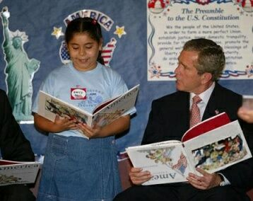 Bush learns to read - Funny Pictures and Images