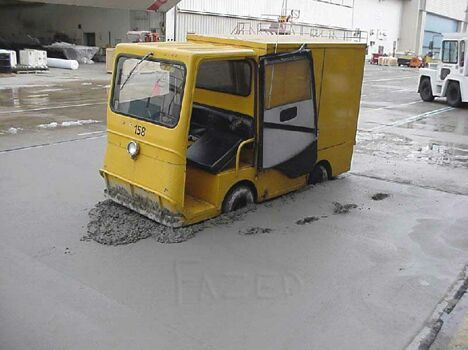 Wet Cement - Funny Pictures and Images
