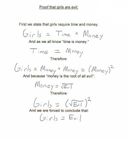 Girls Are Evil - Funny Pictures and Images