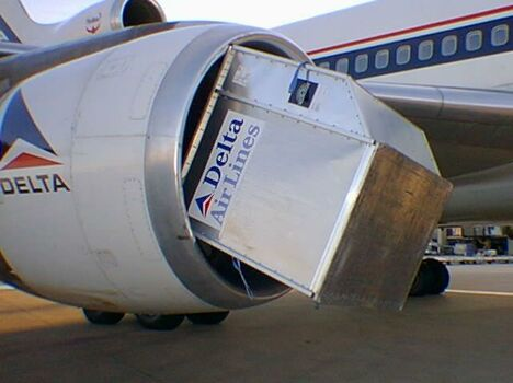 Box In An Aircraft's Engine - Funny Pictures and Images