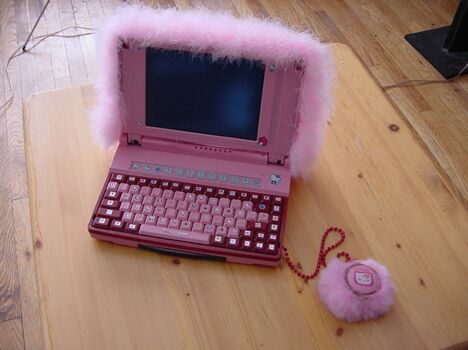 Baby Girl's Laptop - Funny Pictures and Images