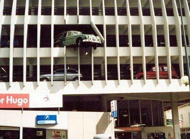 2nd Floor Car Parking Accident? - Funny Pictures and Images
