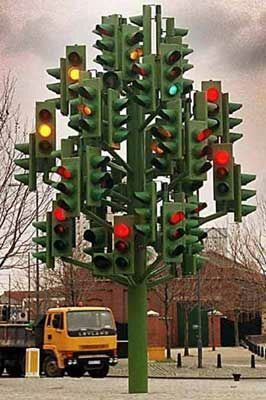 The Traffic Signal Tree - Funny Pictures and Images