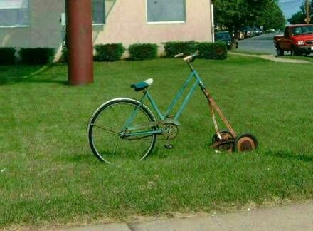 Makeshift lawnmower - Funny Pictures and Images