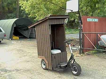 The mobile outhouse - Funny Pictures and Images