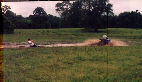 Dirt waterskiing - Funny Pictures and Images