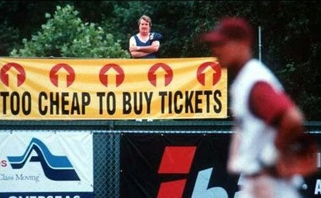 Too cheap to buy tickets - Funny Pictures and Images