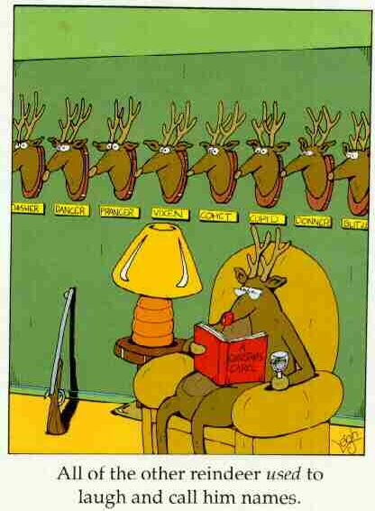 Rudolph's last laugh - Funny Pictures and Images